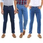 Stretchable Slim Fit Denim Jeans (Pack of 3) for Rs. 1299