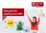 Get INR 250 voucher for paying bills from IDFC First Bank