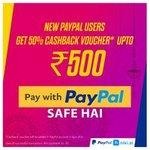 Niki-Paypal 50% cashback upto ₹500