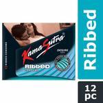 KamaSutra Desire Series Condoms for Men , Unique Power Ribbed Texture, 12 Ribbed Condoms