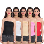 Multicolor Cotton Spaghetti Tube Top Pack of 5 @ Rs. 300 + FREE SHIPPING