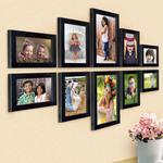 Ajanta Royal Set of 10 Individual Photo Frames Black : A-91A
