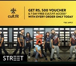 Eatfit 200off + 500off on cultfit + 7day fitness passtoday only on ordering cult sports gear