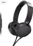 Sony Extra Bass MDR-XB550AP On-Ear Headphones with Mic (Black)