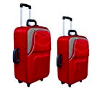 New Jersey Travellers / Polyester / Red & Beige / Set of 2 / Luggage Set / Trolley Bag rs 2500