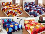 BSB Trendz Glace Cotton 4 Double Bedsheet with 8 Pillow Covers Combo (Multicolour)-Set of 4