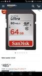 (Renewed) SanDisk Ultra 64GB Class 10 UHS-I SDXC Memory Card (SDSDUNC-064G-GN6IN)