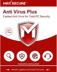 Max Secure 1 User 1 Year Anti-virus (Email Delivery - No CD)