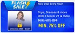 Upcoming 2-3 am: UCB , Forever 21 tops and dresses minimum 75% off