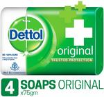 Dettol Original Soap, 75g (Pack Of 4) at rs 78apply 15% off Coupon