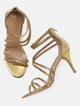 Catwalk Women Gold-Toned Embellished Heels
