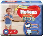 Huggies Ultra Soft Pants Diapers for Boys, Medium (Pack of 30)