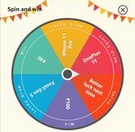 Amazon spin and win for today