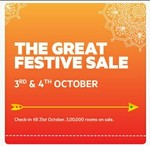 Oyo Rooms : The Great Festive sale ( 3-4 Oct ) check in till 31 Oct