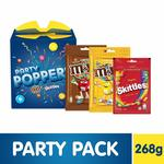 [lowest]Party Poppers Assorted Chocolates and Candy Gift Pack (M&M's, Skittles)- 268g