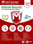Max Secure Software Internet Security Version 6 - 1 PCs, 1 Year @ 65 /-
