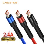 Cabletime Micro USB Cable for Mobile Charger