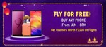 Buy Mobile phone between 1AM - 8PM and stand a chance to Win Rs.5000 voucher for flight