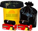 [Pantry] Shalimar Garbage Bags (Medium) Size 48 cm x 56 cm (10 Bags) (Black Colour)