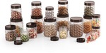 MASTERCOOK 18 PC PET JARS SET - 250 ml, 500 ml, 1200 ml Plastic Grocery Container  (Pack of 18, Clear)