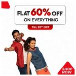 (Last Day) Brandfactory: Flat 60% off on Everything From Just Rs.258