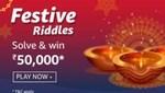 Amazon Festive Riddle Solve & Win 24K gold bar
