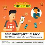 Amazon Send Rs. 101 Get Rs.101 Cashback