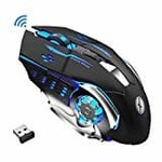 Xmate Zorro Pro 3200DPI, Rechargeable 2.4Ghz Wireless Gaming Mouse with USB Receiver, 6 Button, 7 Colors