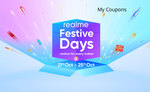 Realme Festive days 21st-25th oct. - 10% Cashback via HDFC Bank debit card|Extra 500 off on exchange by Cashify|Extra Coupons via Activities for additional discount