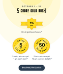 1% instant discount on the Gold purchase with No Limit on Kuvera + 10 gm Giveaway