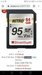 Strontium Nitro 64Gb class 10 Flash Memory card