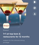 One year dineout membership at 35k cred coins