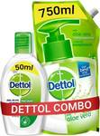 Dettol Aloevera Liquid Hand Wash Refill with Original Instant Hand Sanitizer