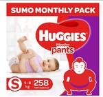 Huggies Wonder Pants Diapers Sumo Pack, Small (258 Count)