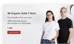 Xiaomi organic tshirt+free bag launched at 499rs
