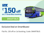 Flat Rs.150 off on 1st Smartbus booking