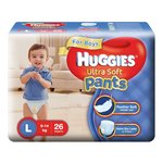 Huggies Ultra Soft Pants Diapers for Girls, Medium (Pack of 30) ,Boys, Large (Pack of 26)