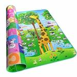 Samaaya Waterproof, Anti Skid, Double Sided Baby Crawling Animals Print Play Mat (Multi Colour, 6x4ft Design N Colours May Vary)