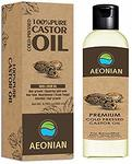 AEONIAN Cold Pressed Castor Oil, Hexane Free Boost Hair Growth for Hair, Eyelashes & Eyebrows and Natural Dry Skin Moisturizer, 200 ml