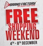 Brand Factory Free Shopping Weekend Sale 2019(4-8 December) Valid on in-store & online