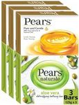 Pears Naturale Aloe Vera Detoxifying and Pure & Gentle Bathing Soap  (6 x 125 g)