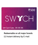 Swych Gift Card at 10% cashback upto 500 on HDFC Card