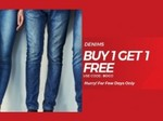 Buy 1 Get 1 Free Offer on Denim Jeans From Rs.799
