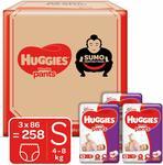 Huggies Wonder Pants Diapers Small @ Rs.1663 MRP Rs.3199 ( 48 % off) (6.45 per pcs)