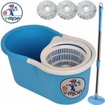 V-MOP Classic Magic Mop With 3 Heads (Blue)