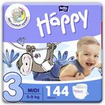 Bella Baby Happy Diapers Midi, 72 Pieces (Pack of 2)