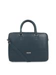 Toteteca Women Teal Blue Solid Laptop Bag