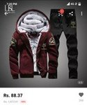 Tracksuit Combo for ₹88 only @ Aliexpress