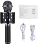 JD WS-858 Wireless Handheld Bluetooth Mic with Speaker (Bluetooth Speaker) Audio Recording and Karaoke Feature Microphone Handheld 858  (Black)