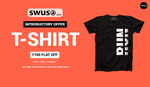 Buy any T-Shirt and get Rs 100/- Off